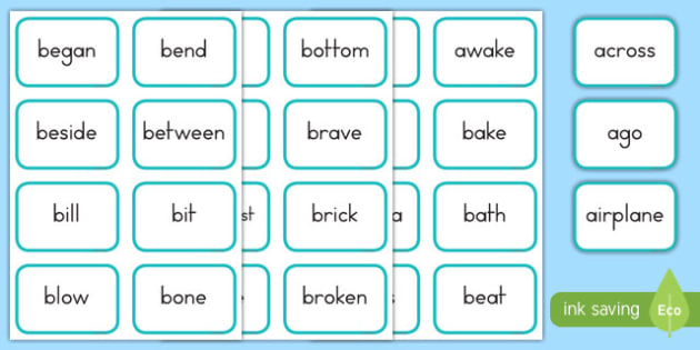 Dolch Words Fourth Grade Flashcards