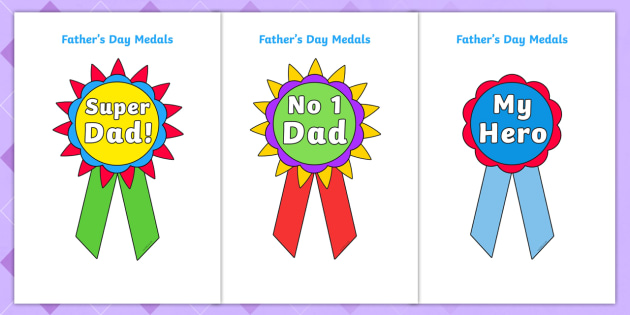 photo about Printable Medals referred to as Fathers Working day Printable Badges - fathers working day, printable, badges