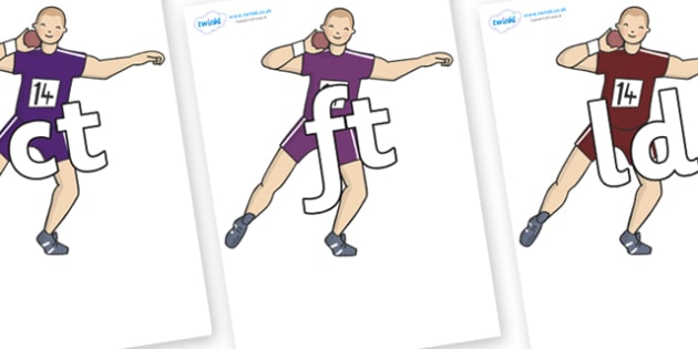 Final Letter Blends on Shot Put - Final Letters, final letter, letter blend, letter blends, consonant, consonants, digraph, trigraph, literacy, alphabet, letters, foundation stage literacy