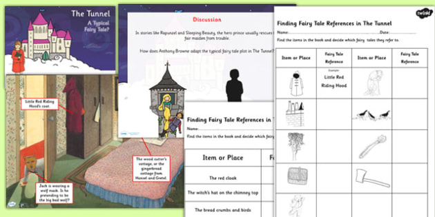 A Typical Fairytale Differentiated Lesson Teaching Pack to Support Teaching on The Tunnel