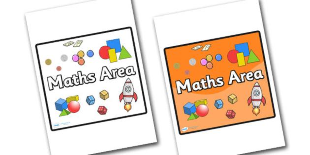 Maths Area Sign - sign, display sign, area display sign, area sign, area, maths area, maths sign, maths posters, numeracy, maths display poster, maths display sign, classroom areas, school areas, classroom area signs, topic signs, topic area signs