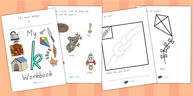 My Workbook K Lowercase - letter formation, writing, tracing