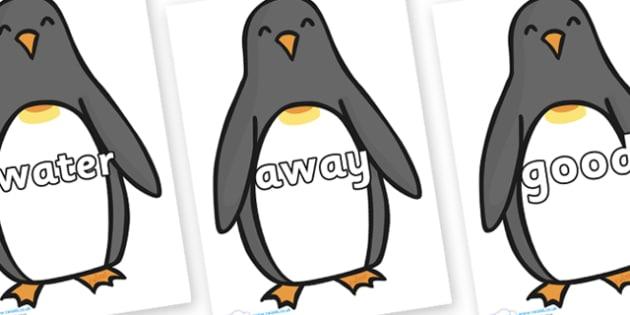 Next 200 Common Words on Penguins - Next 200 Common Words on  - DfES Letters and Sounds, Letters and Sounds, Letters and sounds words, Common words, 200 common words