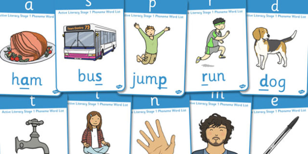 Active Literacy Phonics Programme Stage 1 Posters - display