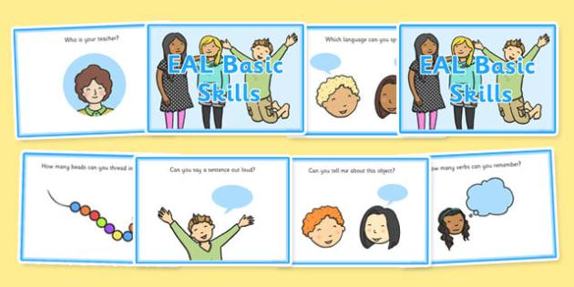 EAL Basic Skills Challenge Cards - eal, challenge, cards, skills