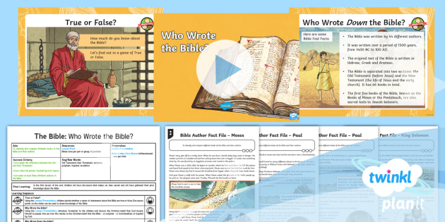 PlanIt RE: The Bible: Who Wrote the Bible? Year 4 Lesson 2
