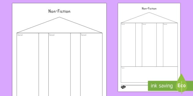 non fiction graphic organizer writing template world book day