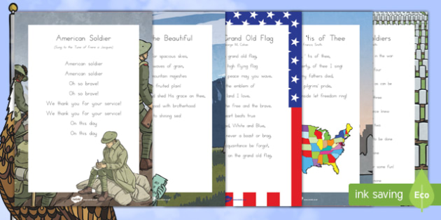 Veterans Day: American Song Lyrics