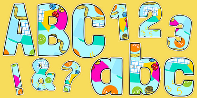 Funky Maths Working Wall Themed Display Lettering Pack - display, lettering, pack