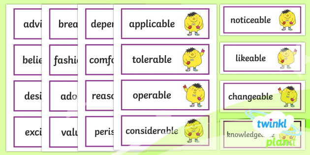 PlanIt English Additional Resources Year 6 Term 1B Word Cards - Spellings Year 6, spellings, cards, flashcards, words, display, Y6, SPaG, GPS