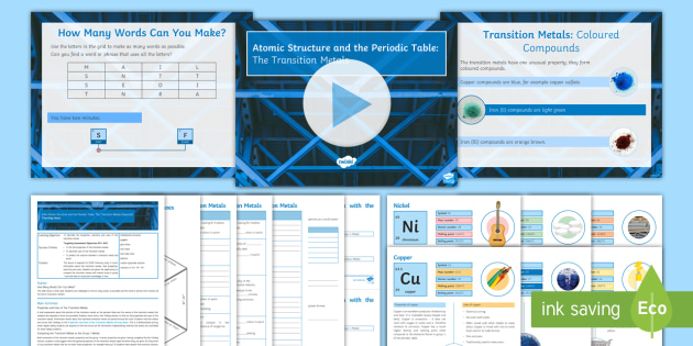 new aqa gcse atomic structure and the periodic table lesson 13 the transition