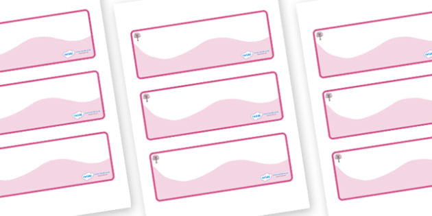 Cherry Tree Themed Editable Drawer-Peg-Name Labels (Colourful) - Themed Classroom Label Templates, Resource Labels, Name Labels, Editable Labels, Drawer Labels, Coat Peg Labels, Peg Label, KS1 Labels, Foundation Labels, Foundation Stage Labels, Teach