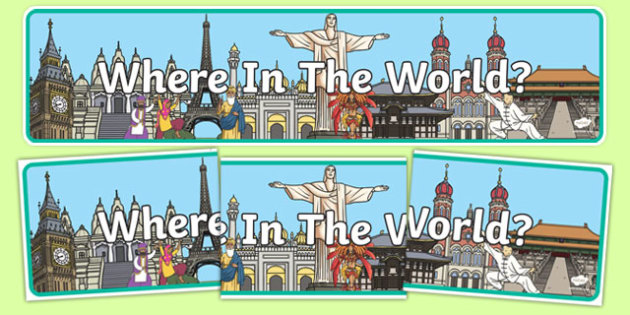 Where In The World Display Banner - where, world, display banner, display, banner