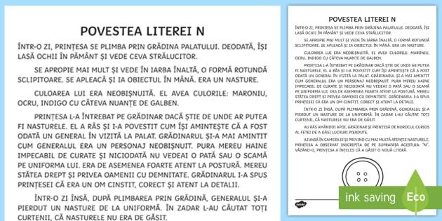 Litera N Poveste Litere Povestea Literelor Litera N Alfabet Clasa