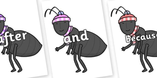 Connectives on Ant - Connectives, VCOP, connective resources, connectives display words, connective displays