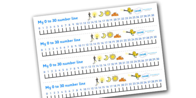 0-30 Number Line (Light and Dark) - Counting, Numberline, Number line, Counting on, Counting back, Light and Dark, Day and Night, A4, display, science, day, night, shadow, reflection, reflective, bright, tint, colour, shade