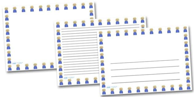 Happy Girl Landscape Page Borders- Landscape Page Borders - Page border, border, writing template, writing aid, writing frame, a4 border, template, templates, landscape