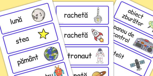 Nava spațială - Cartonașe cu imagini și cuvinte - spațiu, cosmos, fotografii, cartonașe, imagini, cuvinte, intergalactic, planete, în spațiu, univers, stele, planșe, imagini, cuvinte, materiale didactice, română, romana, material, material