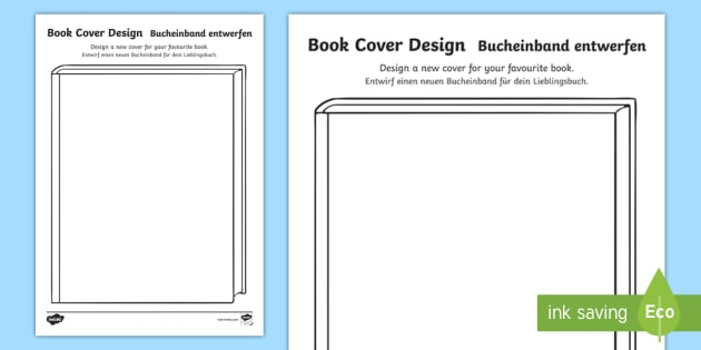 English Book Cover Design ~ New design a book cover activity sheet english german