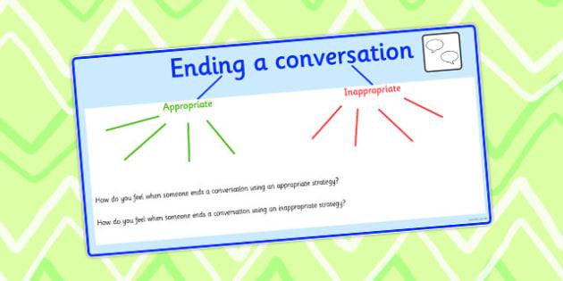 Ending A Conversation Mind Map - end, conversation, mind map