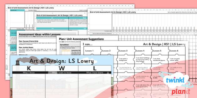 Art: L.S. Lowry KS1 Unit Assessment Pack