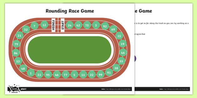 Rounding Race Board Game