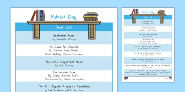 Patriot Day Book List