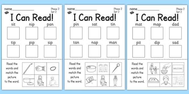 I Can Read Phase 2 Set 2 Words Activity Sheet - activity, sheet, worksheet