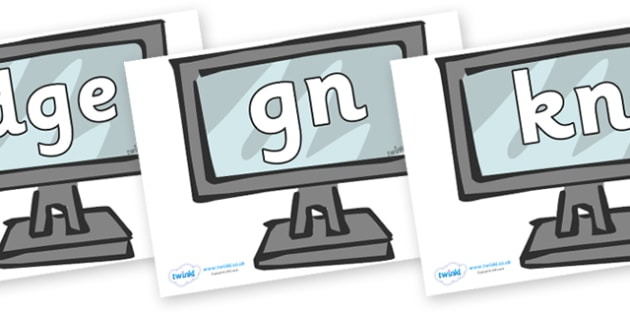 Silent Letters on Monitors - Silent Letters, silent letter, letter blend, consonant, consonants, digraph, trigraph, A-Z letters, literacy, alphabet, letters, alternative sounds