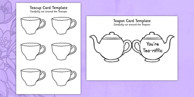 ks1 mother 39 s day crafts teapot card. Black Bedroom Furniture Sets. Home Design Ideas