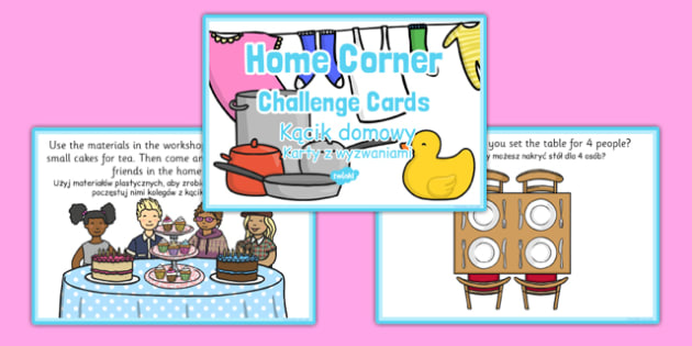Challenge Cards Home Corner Polish Translation - polish, challenge cards, home corner, home, corner