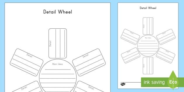 Detail Wheel Graphic Organizer Writing Template - World Book