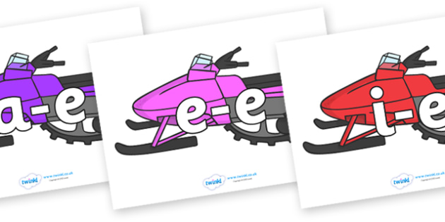 Modifying E Letters on Snowmobiles - Modifying E, letters, modify, Phase 5, Phase five, alternative spellings for phonemes, DfES letters and Sounds