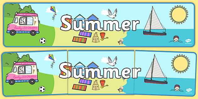 Seasons Banners Summer - season, summer, weather, banner, display