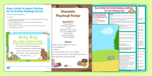 Make a Model To Support Teaching On The Gruffalo Busy Bag and Resource Pack - pasta, playdough, Julia Donalsdon, Axel Scheffler, Gruffalo