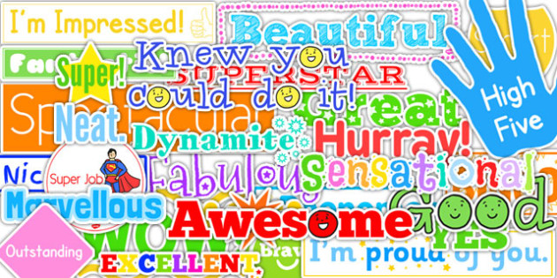 Positive Adjective Words and Phrases - positive, adjective, words