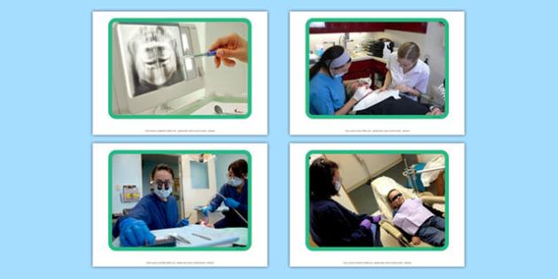 Dentist Display Photos - Dentist, dentist chair, toothbrush, toothpaste, tweezers, healthy, teeth gums, mouth