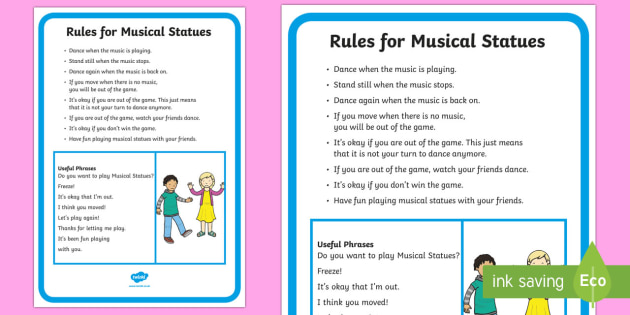 Musical Statues Rules and Social Scripts