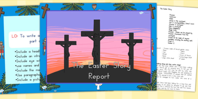 Easter Story Report Task Setter PowerPoint - easter, religion, RE