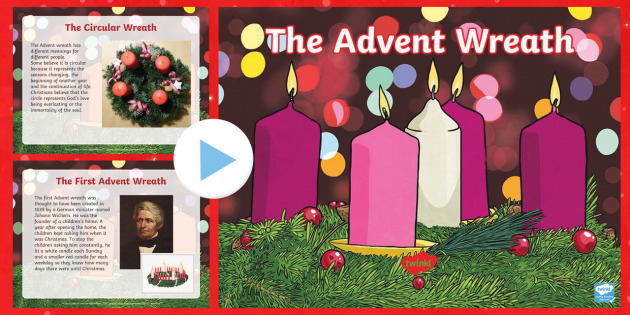 ks2 advent wreath information powerpoint christmas. Black Bedroom Furniture Sets. Home Design Ideas