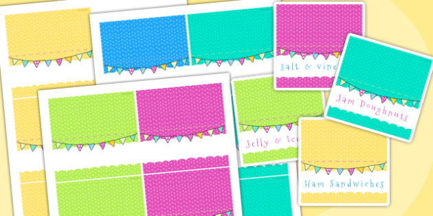 Easter Party Editable Food Labels - easter, easter party, labels
