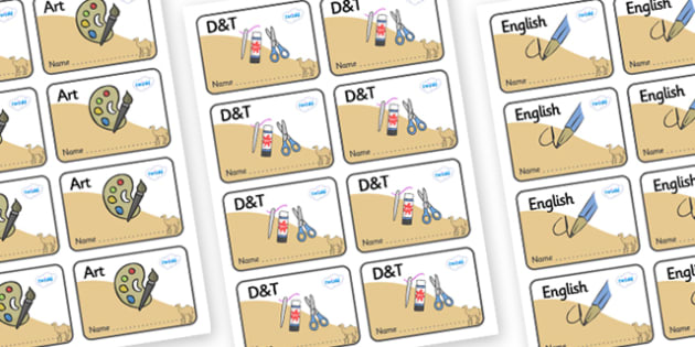 Camel Themed Editable Book Labels - Themed Book label, label, subject labels, exercise book, workbook labels, textbook labels