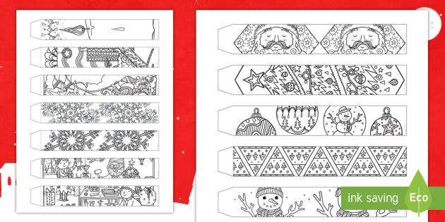 Christmas Paper Chains Uk.Christmas Mindfulness Coloring Paper Chain Activity