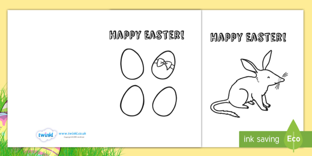 Card Templates Colouring  Easter Easter Crafts Colour