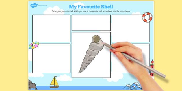 My Favourite Shell Activity Sheet - favourite, shell, activity, sheet, worksheet
