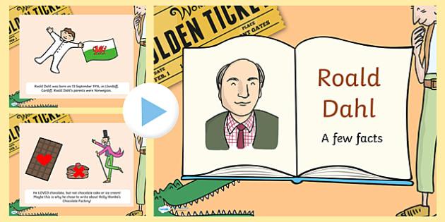 Roald Dahl Factfile PowerPoint - powerpoint, information powerpoint, roald dahl, roald dahl factfile, roald dahl information roald dahl powerpoint