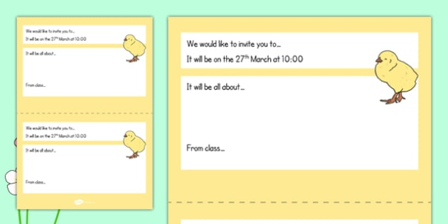 Editable Spring Assembly Invite - editable, spring, assembly, invite