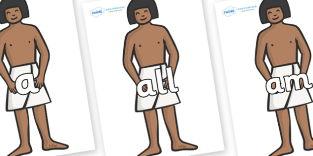 Foundation Stage 2 Keywords on Egyptian Workers - FS2, CLL, keywords, Communication language and literacy,  Display, Key words, high frequency words, foundation stage literacy, DfES Letters and Sounds, Letters and Sounds, spelling