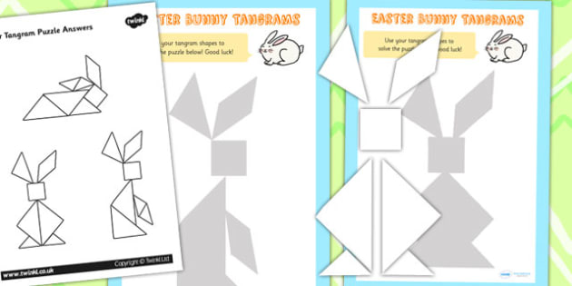 Easter Tangram Puzzle - easter, tangram, easter game, religion