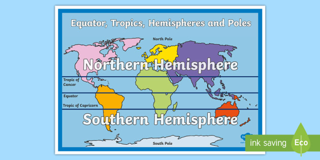 Australia Map Equator.Equator Tropics Hemispheres And Poles Map Australia In Relation To